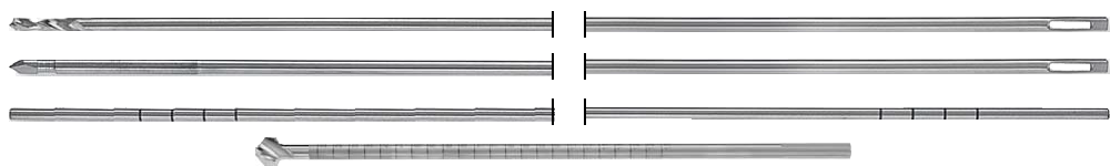 Drill / Graft Passing Guide Pins, Guide Wire for screws, Cannulated Femoral Reamers