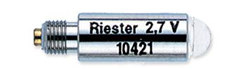 №10421 вакуумная лампа 2,7 V. для отоскопа и изогнутого осветителя, упаковка по 6 шт.